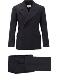 Maison Margiela Double-breasted Cotton-twill Suit - Blue