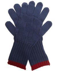 Etro - Contrast-trim Wool-knit Gloves - Lyst