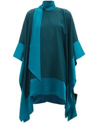 Taller Marmo パーム ビーチ クレープドレス - ブルー