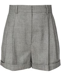 Altuzarra Chaz Prince Of Wales-checked Shorts - Gray