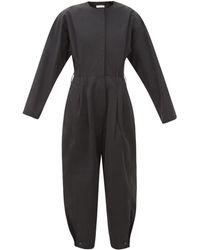 Givenchy ロングスリーブ タフタジャンプスーツ - ブラック