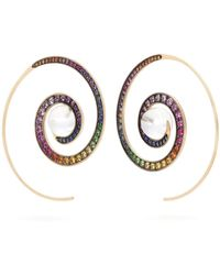 Noor Fares - Spiral Moon Rainbow Earrings - Lyst