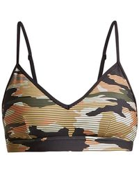 The Upside   Andie Striped Camouflage-print Performance Bra   Lyst
