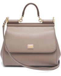 Lyst - Dolce   Gabbana Sicily Dauphine Medium Cross-Body Bag in Gray df1f9fb6a32e7