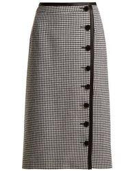 Altuzarra - Christofor Hound's-tooth Wool Pencil Skirt - Lyst