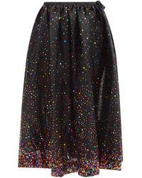 Ashish Sequinned-tulle Midi Skirt - Black