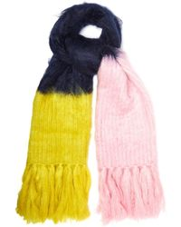 Burberry - Oversized Mohair Blend Scarf - Lyst