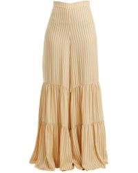 Adriana Degreas - Two Tier Striped Wide Leg Trousers - Lyst