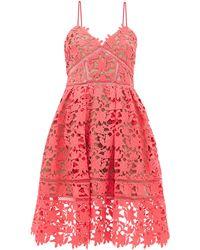 Self-Portrait Azaelea Floral Guipure-lace Dress - Pink