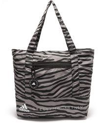 adidas By Stella McCartney Zebra-print Recycled-nylon Tote Bag - Black