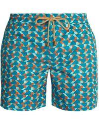Thorsun Titan Fit Blocks Print Swim Shorts - Blue