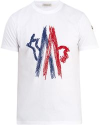 Moncler - Logo-motif Cotton-jersey T-shirt - Lyst