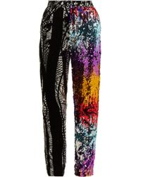 Halpern - Flocked Sequinned Trousers - Lyst