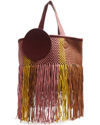 ROKSANDA - Eider Fringed Woven Leather Bag - Lyst