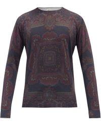Etro Paisley-print Silk-blend Sweater - Gray