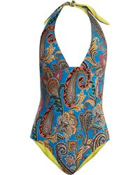 Etro - Abstract Paisley Print Swimsuit - Lyst