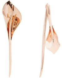 Ryan Storer - Lily Rose-gold Plated Earrings - Lyst