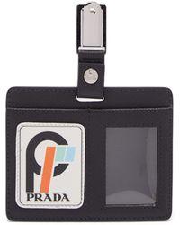 Prada - Leather Clip Badge - Lyst