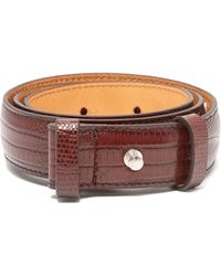 Acne Studios Lizard-effect Leather Belt - Brown