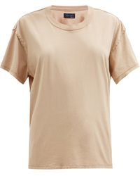 Les Tien インサイドアウト コットンtシャツ - ナチュラル
