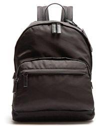 Prada - Zip-pocket Leather-trimmed Backpack - Lyst
