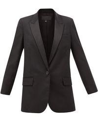 Nili Lotan Arlin バージンウール シングルジャケット - ブラック