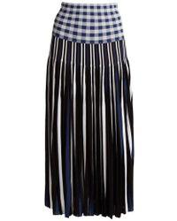 Sonia Rykiel - Pleated Knitted Gingham Skirt - Lyst