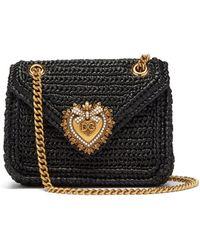 Dolce & Gabbana ディヴォーション クロシェ ミニバッグ - ブラック