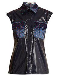 Mary Katrantzou - Lily Polka-dot Detail Sleeveless Shirt - Lyst