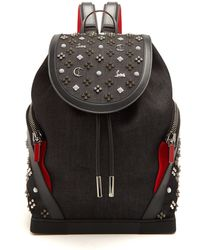 Christian Louboutin - Explorafunk Spike-embellished Backpack - Lyst