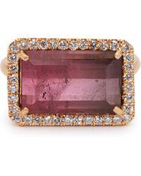 Irene Neuwirth - 18kt Rose Gold, Pink Tourmaline & Diamond Ring - Lyst