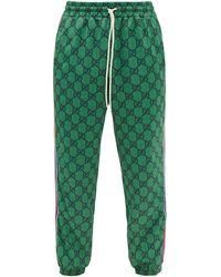 Gucci GGジャージー トラックパンツ - グリーン