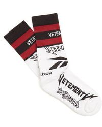 Vetements - X Reebok Cut-up Cotton-blend Socks - Lyst