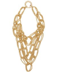 Rosantica Onore Layered Oversized Chain Link Necklace - Metallic