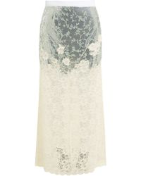 Paco Rabanne Chainmail And Chantilly Lace Maxi Skirt - Metallic