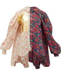MATTY BOVAN Liberty Floral-print Poplin Shirt - Multicolour