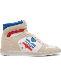 Isabel Marant - Bayten Leather & Suede Trainers - Lyst