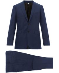 Burberry - Tailored Slim Fit Two Piece Wool Blend Suit - Lyst