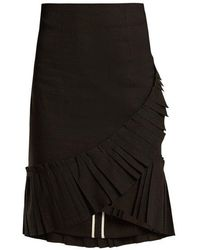 Isabel Marant - Rebel Pleated-hem Linen-blend Skirt - Lyst