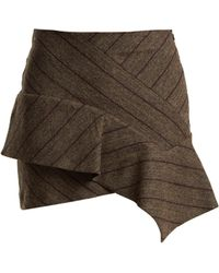 Isabel Marant - Kimura Striped Linen Blend Mini Skirt - Lyst