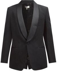 Isabel Marant Leno Single-breasted Wool Tuxedo Jacket - Black