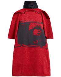 Raf Simons Toyah Print T Shirt Style Scarf - Red