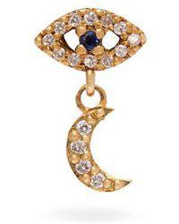 Ileana Makri - 18kt Gold, Sapphire And Diamond Drop Earring - Lyst