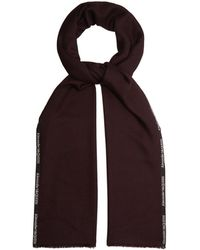 Alexander McQueen - Logo Embroidered Cashmere And Silk Blend Scarf - Lyst