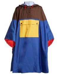 Marni - Colour-block Hooded Poncho - Lyst