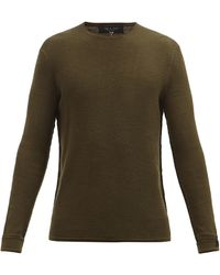 Rag & Bone Collin Merino Wool-blend Sweater - Green