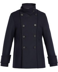 Wooyoungmi - Double Breasted Wool Blend Peacoat - Lyst