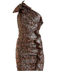 Isabel Marant - Synee One Shoulder Jacquard Mini Dress - Lyst
