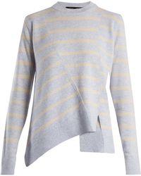 Proenza Schouler - Panelled Crew Neck Striped Wool Blend Jumper - Lyst