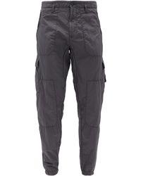 Stone Island Seersucker Cargo Pants - Gray